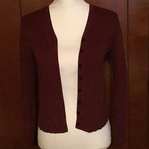 Sweaters - Gap wine colored long sleeved buttoned up sweater